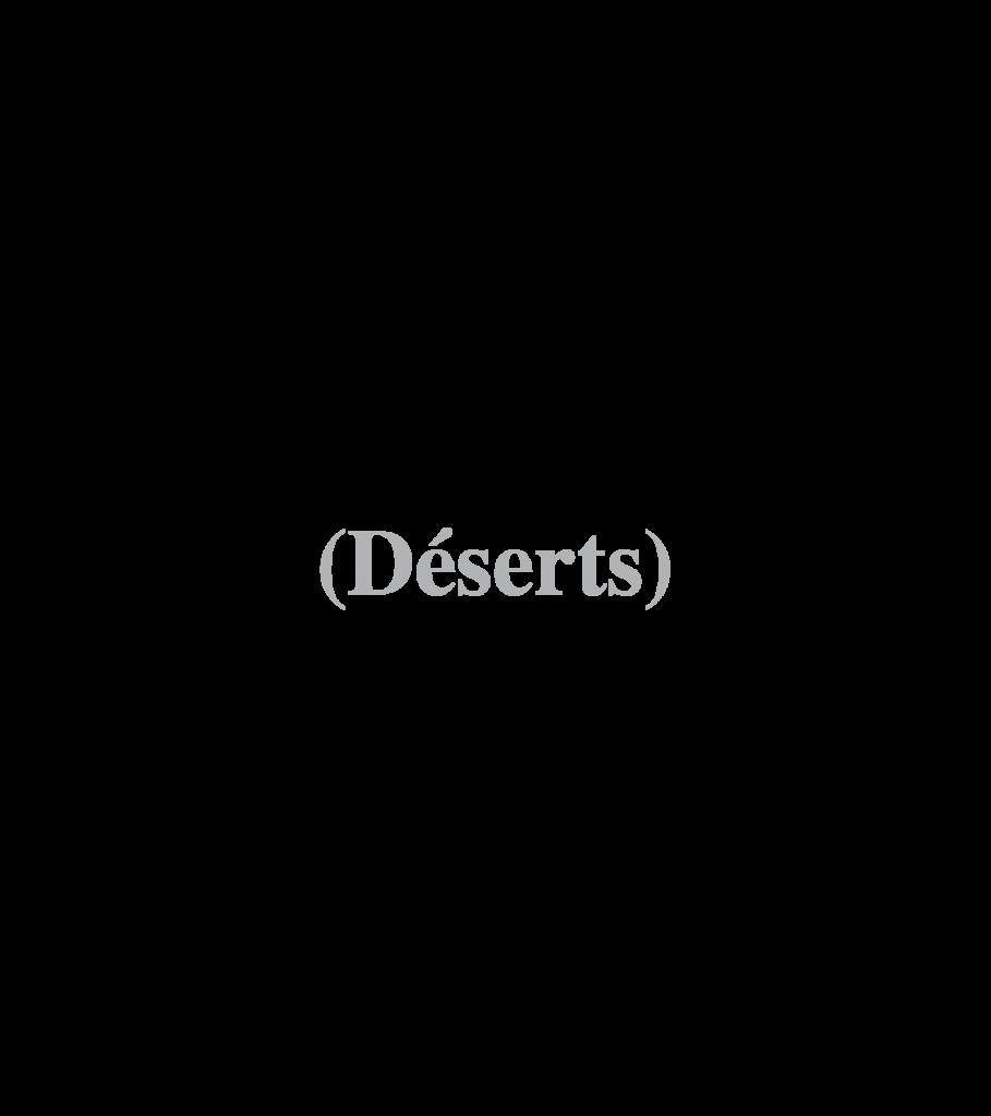 (deserts)